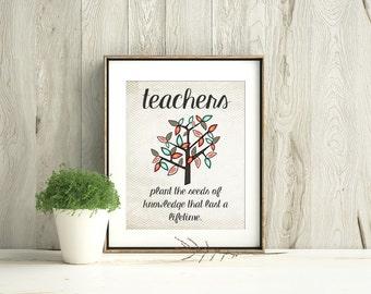 Printable Art, Teacher Classroom Decor, Classroom decoration, Classroom Sign, Teacher Appreciation