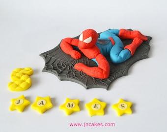 personalised edible cake decoration spiderman cake toppers personalised edible decoration