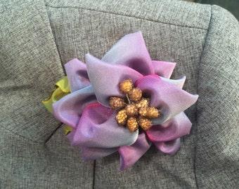 Lavender Rose Lapel Pin