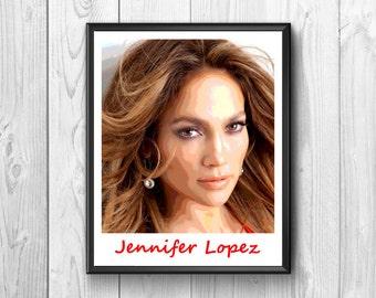 Jennifer Lopez, Jennifer Lopez Posters Jennifer Lopez Print, American Singer
