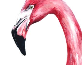 Flamingo watercolor print, Flamingo watercolor painting, Flamingo watercolor art, Flamingo watercolor, Flamingo art, Flamingo painting