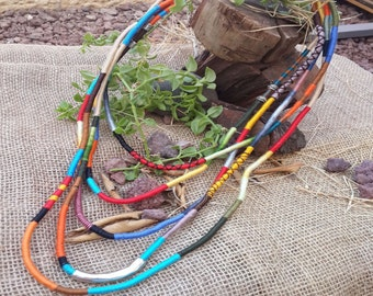 Colorful Layered Necklace, Unique rope jewelry, Fiber statement necklace, Statement rope necklace,Trope necklace,