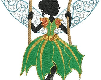 Christmas Fairies and Elves-Machine Embroidery Designs