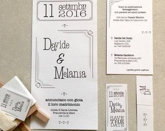 """Partecipazioni matrimonio stile """"Typewriter"""". Set inviti personalizzabili. Nozze, inviti, diy, stampabili, pdf."""