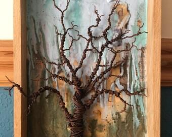 Mixed Media Tree Artwork