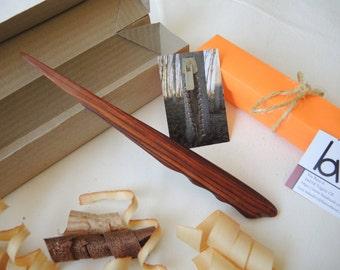 Wooden letter opener
