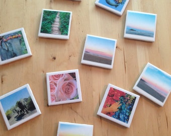 Hand Made Polaroid Style Coasters                  *Sold In Groups Of 4*