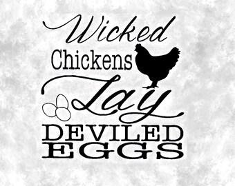 Wicked Chicken Vinyl Sticker/ Chickens Decal / Chicken Decal / Chicken Vinyl / Farm Decal / Chicken Farm Decal / Chicken Window Sticker