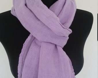 Light linen scarf