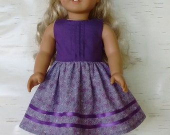 "18"" doll dress with pintucked bodice"