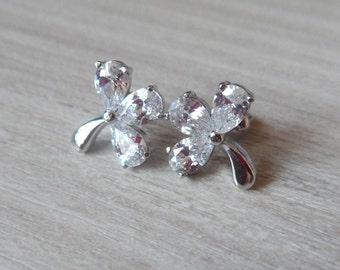 Silver stud earrings studs Summer Screw Back