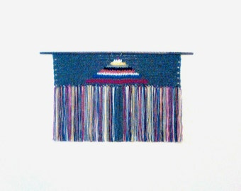 handmade crochet wall hanging