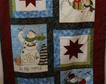 The Joy of Giving Christmas Wall Hanging Quilt