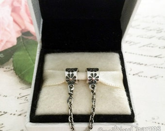 Authentic PANDORA Daisy Safety Chain with Original Box