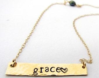 "Custom ""ANAM CARA"" Necklace for Jo"