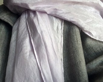 100% silk scarves naturally dyed by Rebecca Welsh