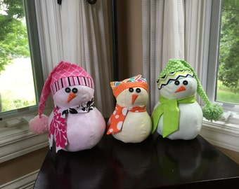 Stuffed Fun Fabric Snowman