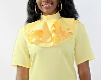 Short Sleeve Tiered Ruffle Blouse