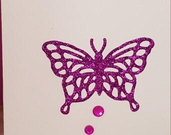 Glitter butterfly handmade card