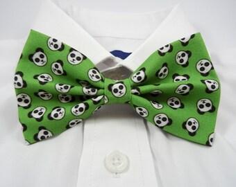 Panda Faces Bow Tie