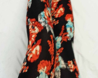 Womens Floral Print Stretch Leggings