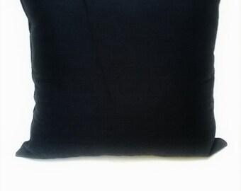 Pillow. Black pillow. Beautiful black pillowcase.