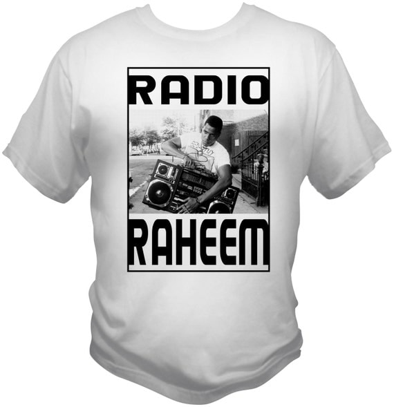Radio Raheem White T-Shirt Do The Right Thing A Spike Lee Joint 1989