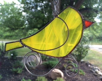 Sweet Stained Glass Bird