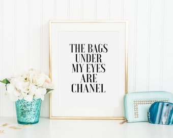 Bags under my eyes etsy for Decor my eyes