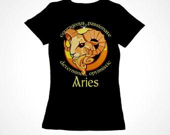 Aries Girls Zodiac Astrology Tee