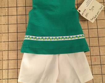 American Girl Doll Shorts and Top Outfit