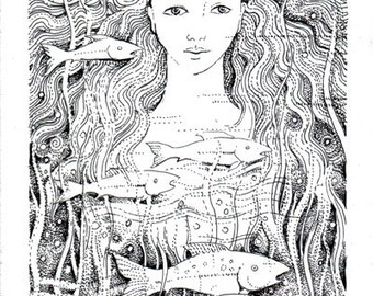 River Goddess Original Illustration