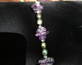 Amethyst Pearl Bracelet