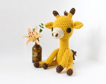 Crochet Giraffe Doll – stuffed animal toy, handmade to order