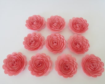 """Pink Paper Flowers Girl's Baby Shower Decor Wedding decorations banquet dinner floral table scatter centerpiece ideas sweet 16th birthday 3"""""""