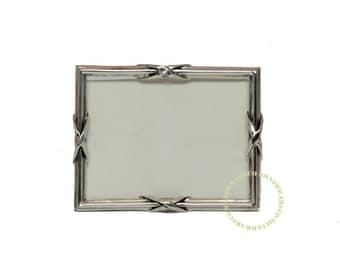 Silver picture frame old Dutch with cross strap