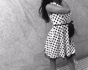 Polka Dot Princess Flared dress