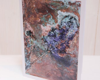 Silverdale Summer III: Fine Art Card of Original Copper Painting by Jessica Elleray