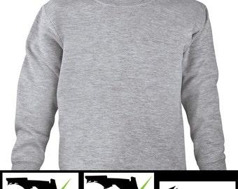 Toddler Sweatshirt: 2 Colors & 3 Designs