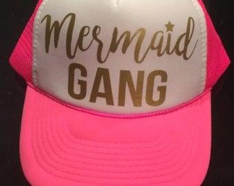Mermaid gang trucker hat
