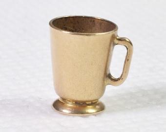 Vintage 9ct gold tankard charm