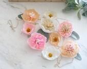 "Paper Flower Garland // Handmade Crepe Paper Flowers // Boho Nursery Decor // Birthday Garland // Boho Wedding Decor // ""Whimsical Blooms"""