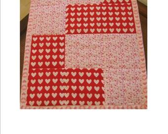 "L IS for LOVE, 18"" x 24"" reversible pet quilt"