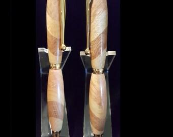 Slimline Pen in Maple/Oak Twist