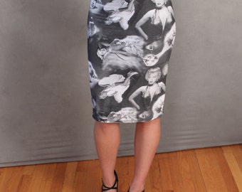 MADE TO ORDER Limited Edition Marilyn Monroe Stretch Pencil Skirt