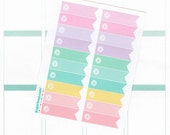20 Planner flag stickers, page flags, corner flags, reminders, tasks, to do, chores, FLG3