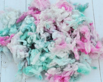 Soft Gorgeous Uncarded Merino Lamb Wool - Hand Dyed - Mason Jar - 3.1 ounces