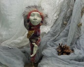 Rustic Home Décor, Good fortune goddess, Spirit of Protection, Spirit of Compassion, ooak Art Doll,  Assemblage, Equinox Moon,