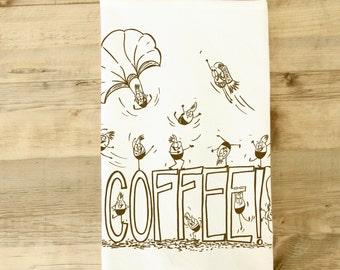 Coffee dish towel Beans Caffeine Tea Dish Towel coffee beans parachute energy adrenaline rush