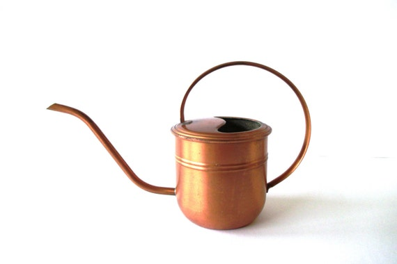 Copper Watering Can Copper Midcentury By Mybeautifulbavaria